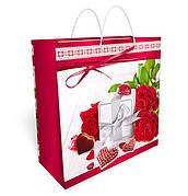 Бумажный подарочный пакет большой квадрат 32.3*32.3*14см №34,064 СП