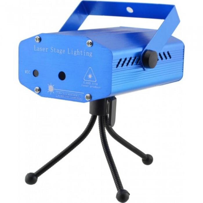 Лазерный проектор, стробоскоп, диско лазер SF-A1 2 в 1 c триногой Синий