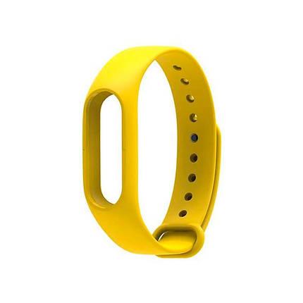 Ремешок для браслета Mi Band 2 (Silicon) Yellow, фото 2