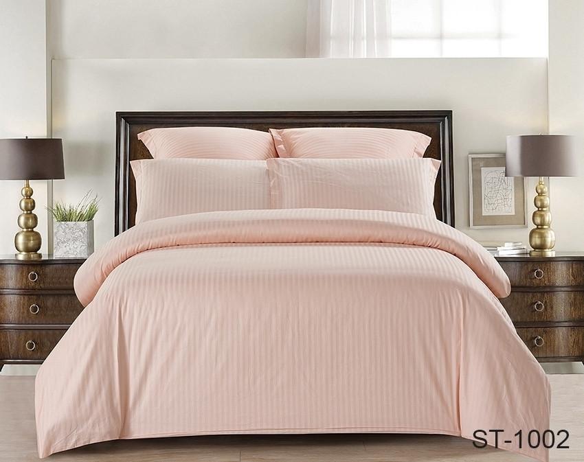 Двуспальный комплект постельного белья страйп сатин ST-1002