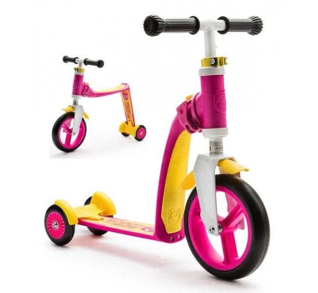 Самокат-беговел Highwaybaby - Scoot and Ride, розовый
