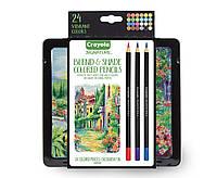 Crayola signature colored pencils Крайола проф. серия 24 карандаша
