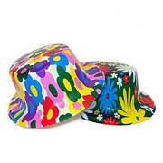 Шляпа Цилиндр пластик с принтом Абстракция