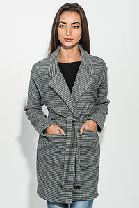 Кардиган женский 115RPD067 цвет Серо-черный,полоса