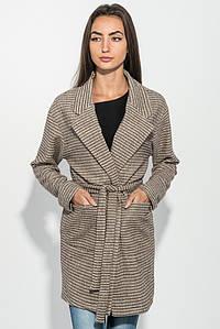 Кардиган женский 115RPD067 цвет Бежево-черный,полоса