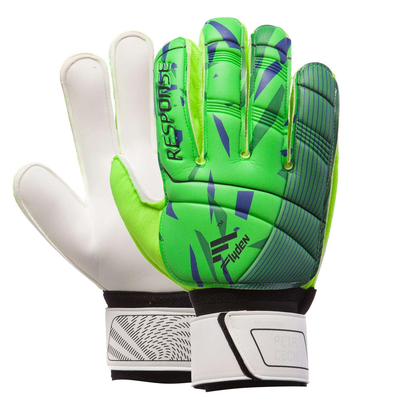 Перчатки вратарские RESPONSE зеленые 508-1