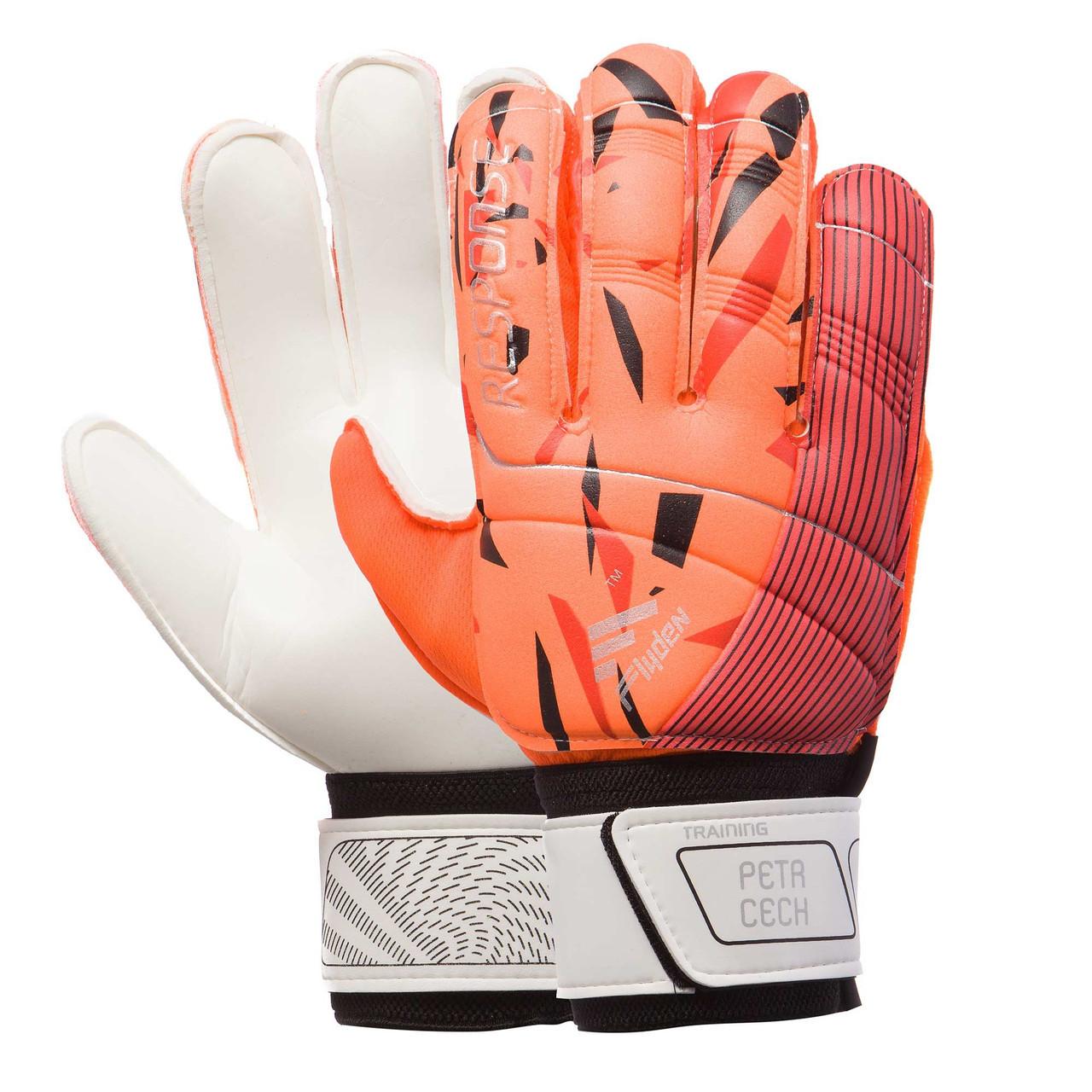 Перчатки вратарские RESPONSE оранжевые 508-1