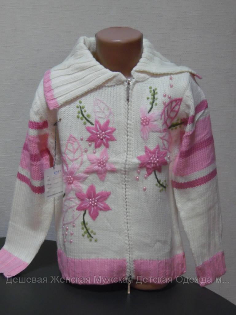 Свитер детский бело-розовый
