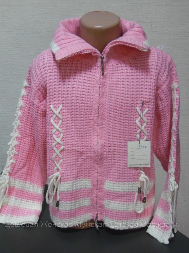 Детский свитер розовый