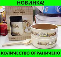 Набор детских тарелок Bobby Rabbit Wonderful Life!Розница и Опт