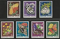 Венгрия 1974 бабочки - MNH XF