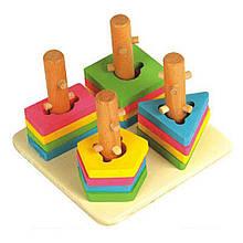 Развивающая игрушка Мир деревянных игрушек Логический квадрат малый (Д105)