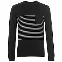 Джемпер Pierre Cardin Striped Pocket Knit Black Оригінал