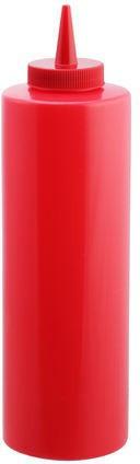 Диспенсер 700 мл червоний для соусів і сиропів Empire М-7080