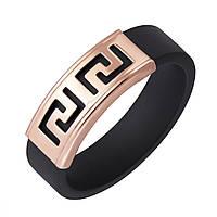 Кольцо Калисто из красного золота и черного каучука 000005023 16 размер