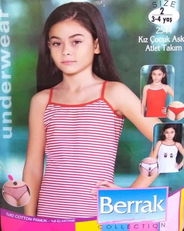 Комплект детского белья для девочки, Berrak (размер 4)