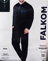 Комплект мужской домашней одежды, (флис (Кофта длинный рукав +штаны) р.M-XL, ПАК/3шт., Falkom