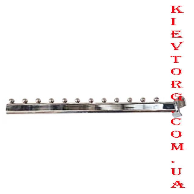 Кронштейн (флейта) на перемычку, 12 шариков, 45 см, хромированный