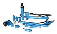 Набор гидроцилиндров и насадок для кузовных работ с насосом 10 т (пластиковый кейс на роликах) (Unitraum UN71001L), фото 1