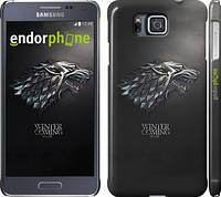 "Чехол на Samsung Galaxy Alpha G850F Game of thrones. Stark House ""1120c-65"""