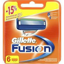 Сменные кассеты Gillette Fusion, 6шт (7702018918102)