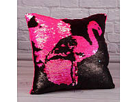 Подушка сувенирная фламинго