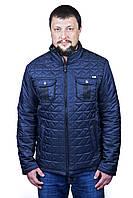 Мужская  серая куртка с воротником, фото 1