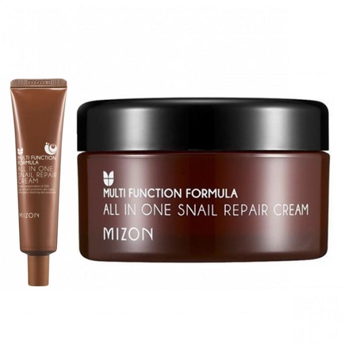 Улиточный восстанавливающий крем для лица Mizon All In One Snail Repair Cream 15ml Корея