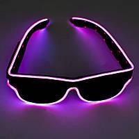 🔝 Светящиеся неоновые светодиодные LED очки, клубные, Красные, для дискотеки и вечеринки, с доставкой | 🎁%🚚