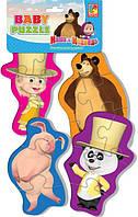 "Baby Puzzle «Маша и Медведь. Танцор""  VT1106-43 Vladi Toys"