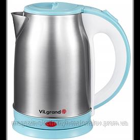 Чайник електричний нержавейка (1.8 л; 2 кВт) ViLgrand VS18102_blue