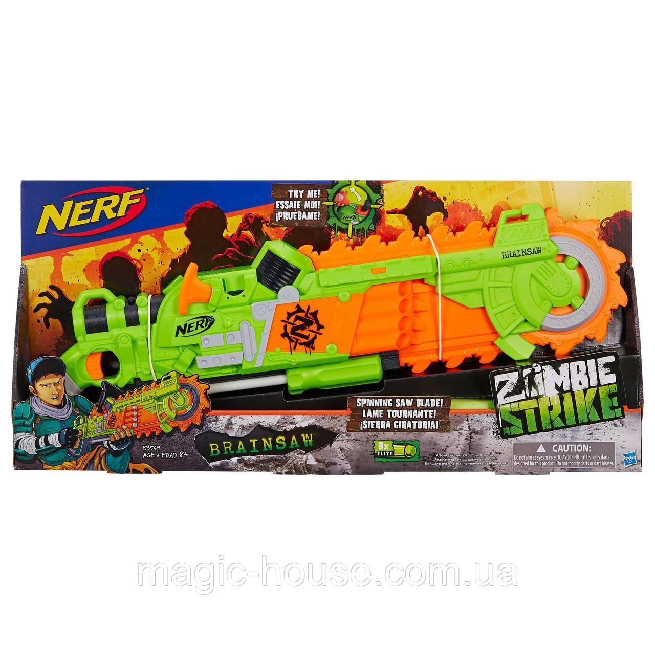 Бластер Nerf Зомби Страйк Бензопила  Zombie Strike Brainsaw Blaster