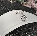 Серьги втулки  родированное серебро Пандора, фото 4