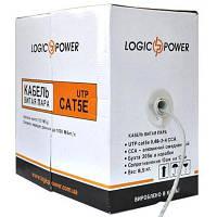 Кабель UTP 305м cat.5e LogicPower (КВП(4*2*0, 48)(СCA))