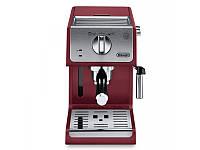 Рожковая кофеварка эспрессо Delonghi ECP 33.21 Красная