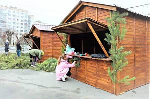 Деревянные торговые киоски в Шепетовке