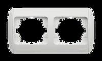 Рамка двойная  горизонтальная Zirve SilverLine черный  с вставкой