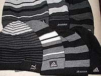 Вязаные шапки на флисе р.ры 56-60