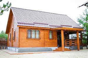 Деревянный тёплый дом из профилированного бруса в Краматорске