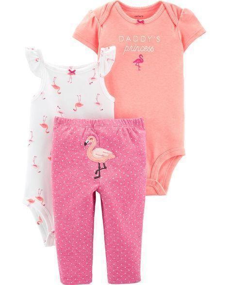 Комплект трійка Картерс carter's для дівчинки рожевий 18М ( 76-81 см)
