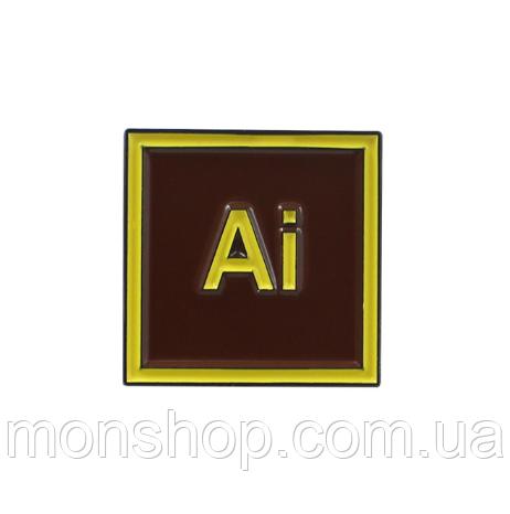Дизайнерська брошка (2,1х2,1 см)