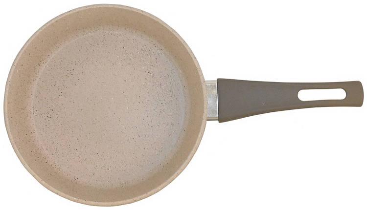 Сковорода Талко Веста 26 см. с антипригарным покрытием и крышкой светло-серый гранит AA51263, фото 2