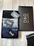 Подарунковий набір чоловічих трусів Dolce & Gabbana 3 шт. Бавовна труси Дольче Габбана нижня білизна репліка, фото 4