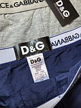 Подарунковий набір чоловічих трусів Dolce & Gabbana 3 шт. Бавовна труси Дольче Габбана нижня білизна репліка, фото 6
