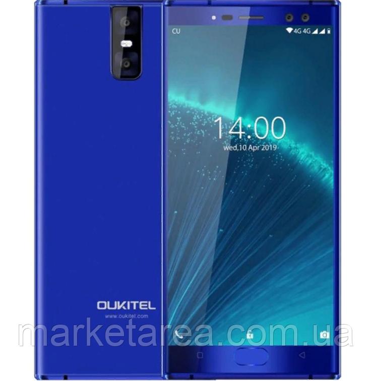 Смартфон синий с большим дисплеем и двойной камерой на 2 сим карты OUKITEL K3 Pro blue 4/64
