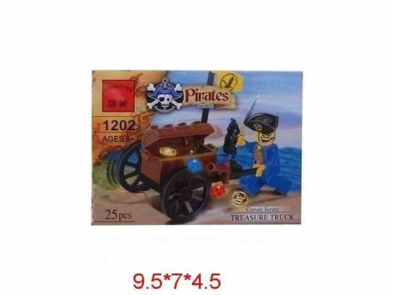 "Конструктор ""Brick - Пираты"", 25 дет., в кор. 9,5х7х4,5 /120/, фото 2"