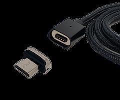 Магнітний кабель micro-usb FEL3.0, Essager 3A, чорний 1 м