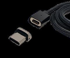 Магнитный кабель type-c FEL3.0, Essager 3A, черный 1 м