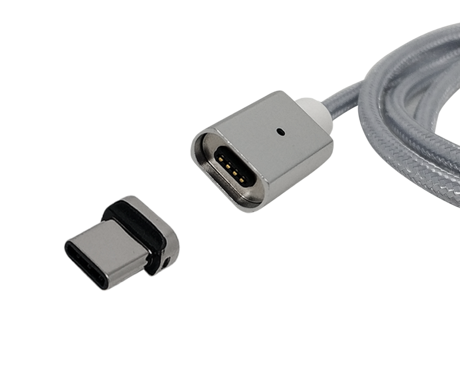 Магнитный кабель type-c FEL3.0, Essager 3A, 1 м, серебристый