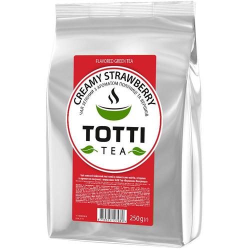Зеленый чай TOTTI Tea Клубника со сливками 250 г